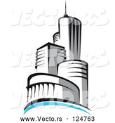 Vector of Skyscraper Logo - 5 by Vector Tradition SM