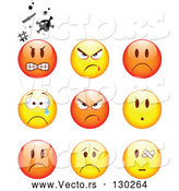 Vector of Smileys: Mad, Angry, Bully, Crying and Bandaged by Beboy