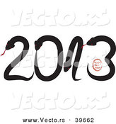 Vector of Snakes Forming 2013 - Happy New Year by Eugene