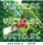 Vector of Snowboarder Balancing by L2studio