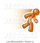 Vector of Speedy Orange Business Guy Running by Leo Blanchette
