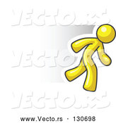 Vector of Speedy Yellow Businessman Running by Leo Blanchette