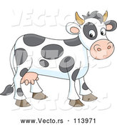 Vector of Spotted Cow by Alex Bannykh