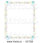 Vector of Stationery Border of Confetti and Martini Glasses Clipart Illustration by Andy Nortnik