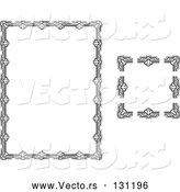 Vector of Stationery Border with Ornate Designs by AtStockIllustration