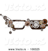 Vector of Steampunk Human Eye Glass Frames with Gears by BNP Design Studio