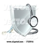 Vector of Stethoscope Shield Medical Healthcare Concept by AtStockIllustration
