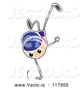 Vector of Stick Boy Break Dancing by Graphics RF