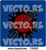 Vector of Stop Virus Icon on Blue Background by Elaineitalia