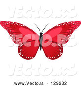 Vector of Stunning Red Butterfly with Sparkling Wings by Elaineitalia