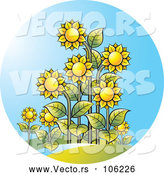 Vector of Sunflower and Sunshine Circle by Lal Perera