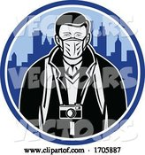 Vector of Tourist Wearing Mask Coronavirus Retro by Patrimonio