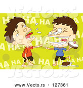Vector of Twin Boys Food Fighting by Mayawizard101