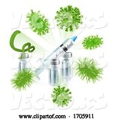 Vector of Vaccine Syringe Virus Vaccination Medical Concept by AtStockIllustration
