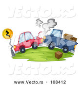 Vector of Vehicles After a Head on Collision Accident by Graphics RF