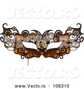 Vector of Victorian Steampunk Human Eye Mask by BNP Design Studio