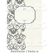 Vector of Vines Border with Blank Text Box by BestVector