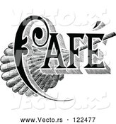 Vector of Vintage Black and White Cafe Sign 1 by Prawny Vintage