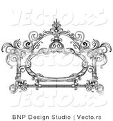 Vector of Vintage Black and White Victorian Frame Design by BNP Design Studio