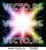 Vector of Vortex of Colorful Lights, Bright Light Shining in the Center by KJ Pargeter