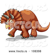 April 30th, 2018: Vector of Walking Brown Triceratops Dinosaur by Graphics RF