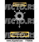 Vector of Warning Covid 19 Sign with Virus Logo by Elaineitalia