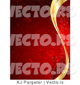 Vector of Waves of Gold and Red Merged in a Background by KJ Pargeter