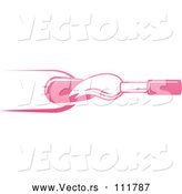 Vector of White and Pink Nail Polish Brush and Finger by AtStockIllustration