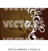 Vector of White Vine over Silhouetted Vines on a Gradient Earth Toned Brown BackgroundWhite Vine over Silhouetted Vines on a Gradient Earth Toned Brown Background by OnFocusMedia