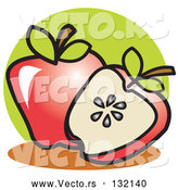 Vector of Whole Apple by Andy Nortnik