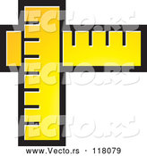 Vector of Yellow Rulers by Lal Perera