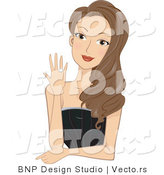 Vector of Young Lady Showing Her Engagement Ring by BNP Design Studio