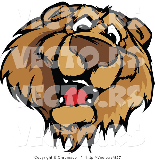 Cartoon Vector of a Friendly Brown Bear Mascot