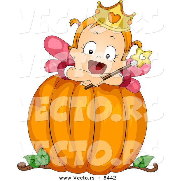 Girl Pumpkin Girl on a Big Pumpkin