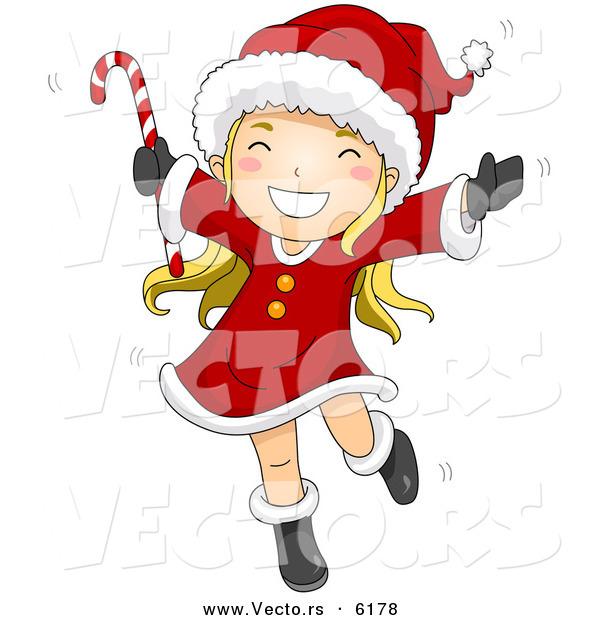 Dancing Girl Cartoon Images Cartoon Vector of a Happy Girl