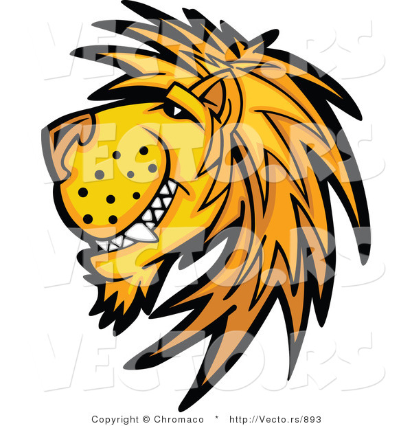 Cartoon Vector of a Happy Young Male Lion Mascot