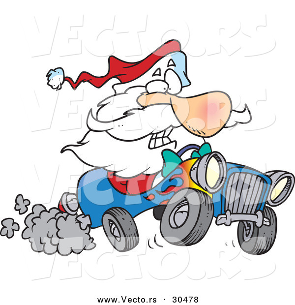 Cartoon Car Driving Fast