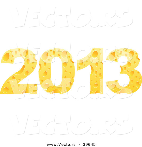 Vector of 2013 Designed from Cheese