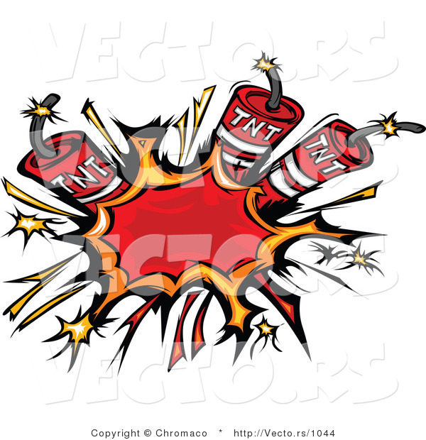 Vector of 3 Bursting Dynamite Sticks