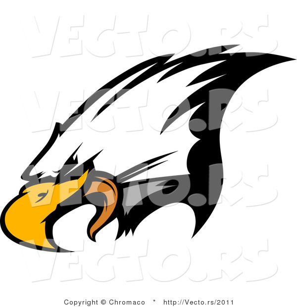 Vector of a Bald Eagle Screeching