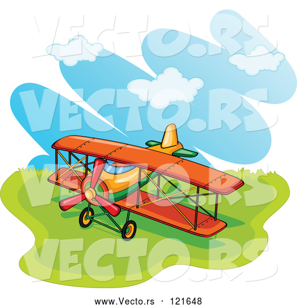 Vector of a Biplane in a Field