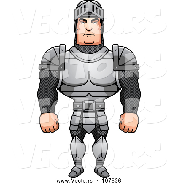 Vector of a Buff Male Knight