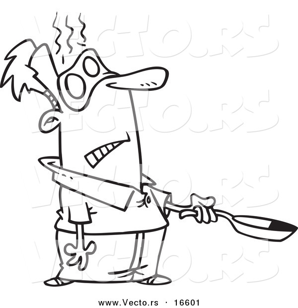 Frying Pan Coloring Coloring Pages