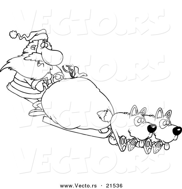 iditarod coloring pages - pics for cartoon musher sled