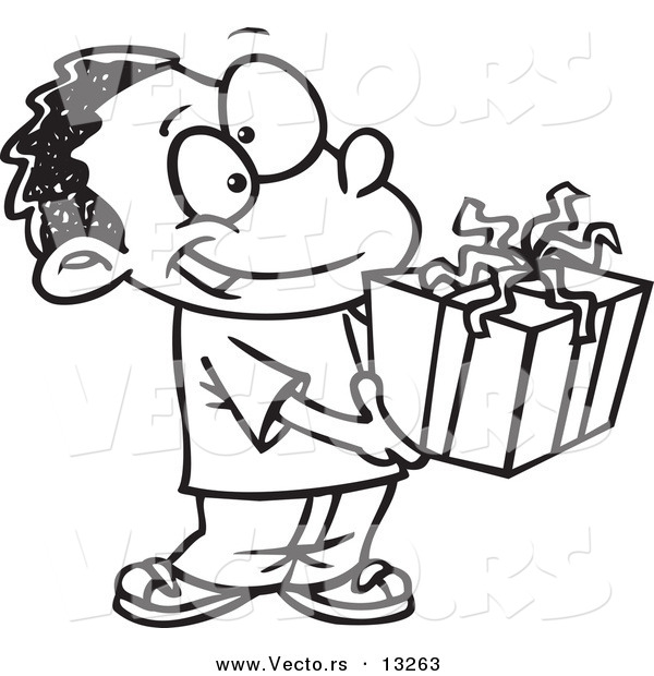 Christmas Box Coloring Pages a Gift Box Coloring Page