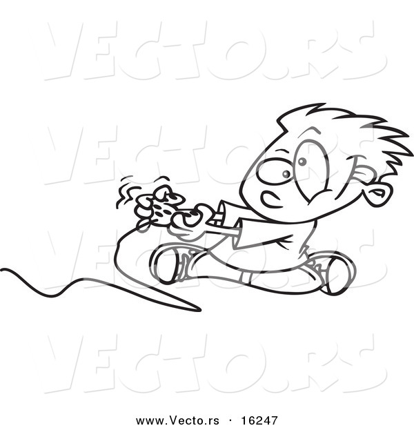 Xbox 360 Game Controller Coloring Pages
