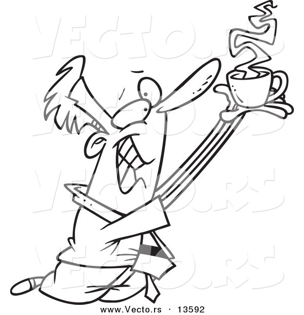 Le jeu du nombre en image... (QUE DES CHIFFRES) - Page 3 Vector-of-a-cartoon-businessman-holding-coffee-up-to-whom-he-worships-coloring-page-outline-by-ron-leishman-13592