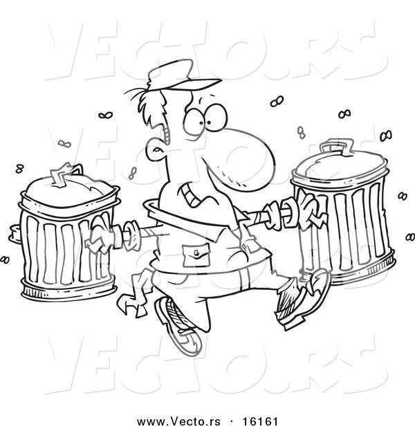 Garbage can coloring pages