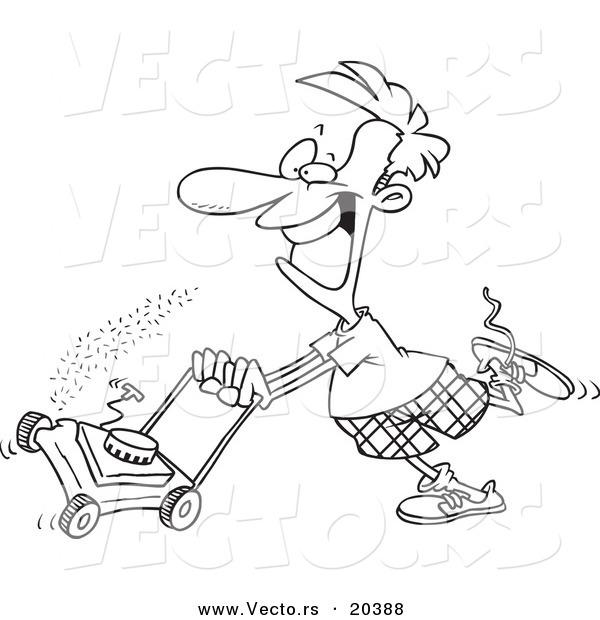 Riding Lawn Mower Clipart