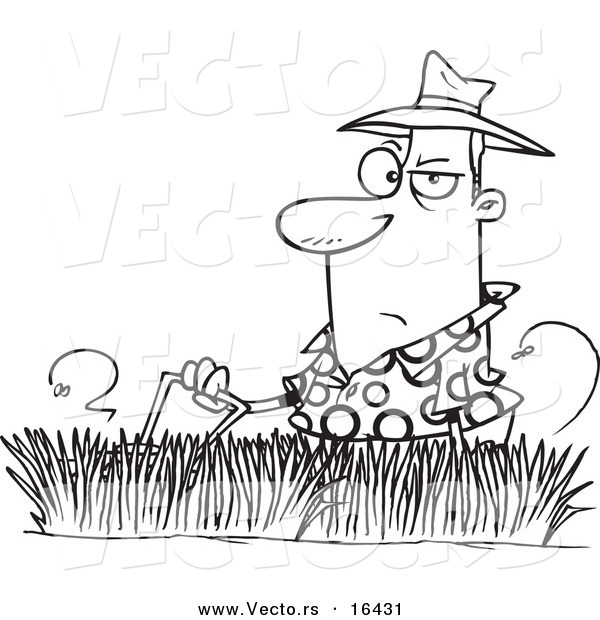 yard work coloring pages - photo#29